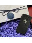 Именной, кожаный чехол книжка с инициалами из серебра, Mobcase 680 для iPhone