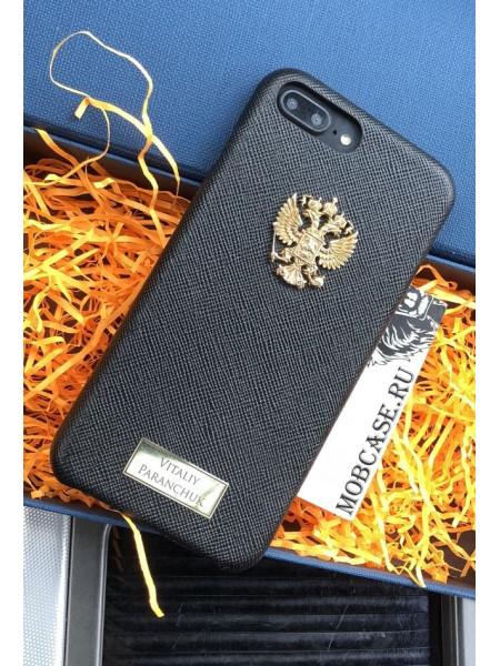 Именной кожаный чехол с гербом России Mobcase 616, для iPhone 7/8|7/8Plus|XXS|XSMAX|XR