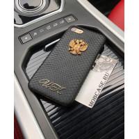 Именной, кожаный чехол с гербом России, Mobcase 699 для iPhone 7, 8, 7 Plus, 8 Plus, X, XS, XSMAX, XR