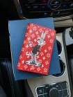 Кожаная красная обложка на паспорт Mobcase 1356