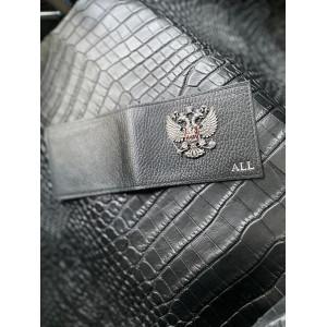 Кожаная обложка на удостоверение с гербом России Mobcase 1372
