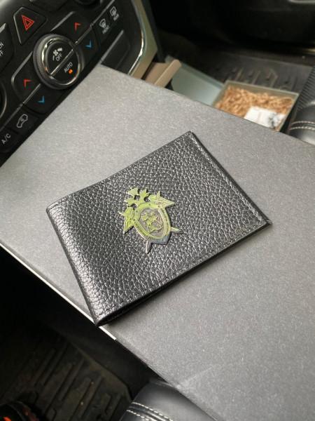 Кожаная обложка на удостоверение с гербом следственного комитета Mobcase 1174