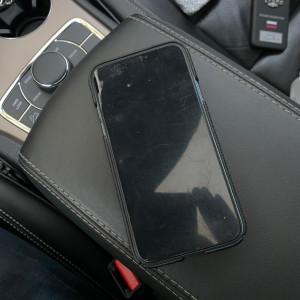 Кожаный чехол чёрного цвета из кожи игуана, Mobcase 961