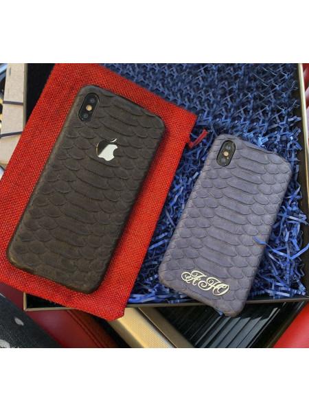 Кожаный чехол с логотипом Apple или личными инициалами, Mobcase 857