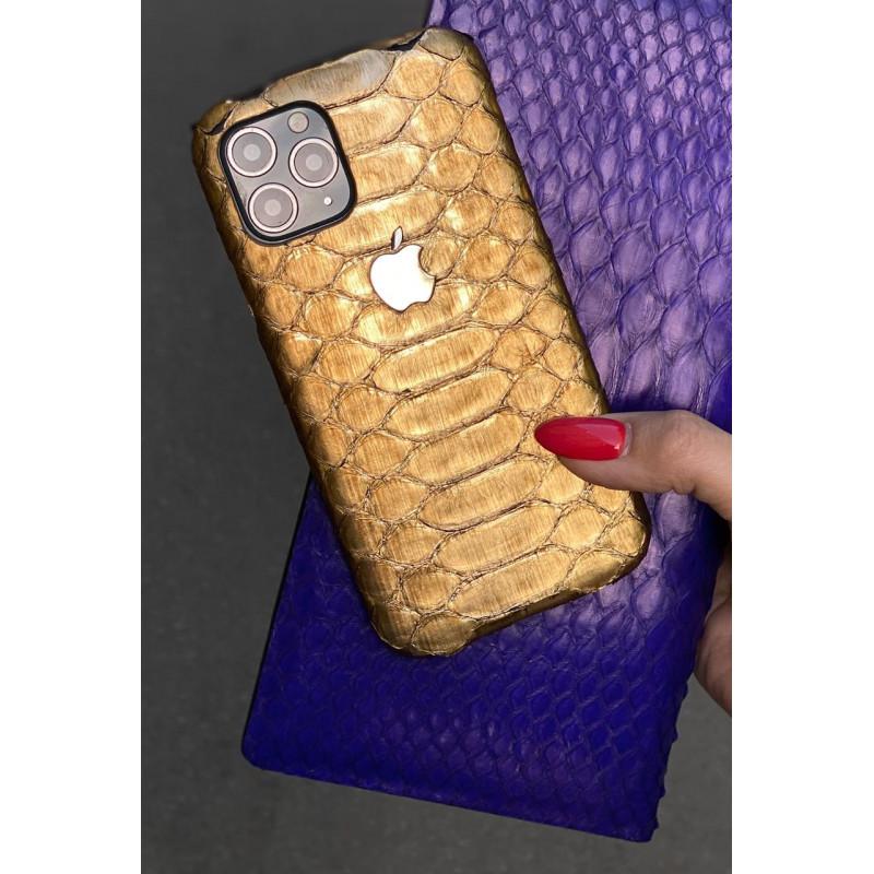 Кожаный чехол с логотипом Apple из золота 585 пробы: Mobcase 1114