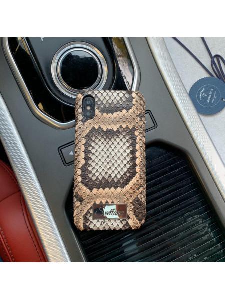 Кожаный чехол с позолоченной именной табличкой Svetlana, Mobcase 955