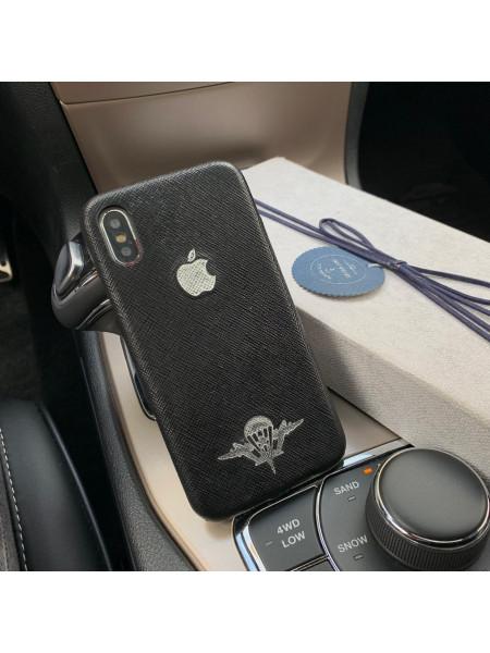 Кожаный чехол с символикой ВДВ, логотипом Apple, Mobcase 959