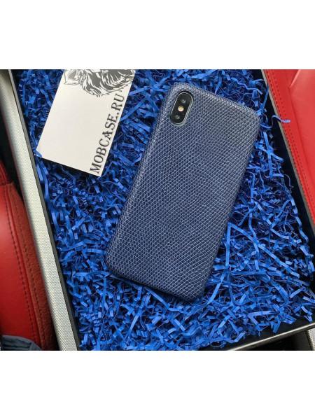 Кожаный чехол, синий из кожи игуана Mobcase 807 для iPhone