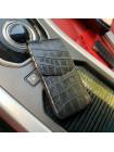 Кожаный, чёрный чехол карман с тиснением под крокодила, Mobcase 855