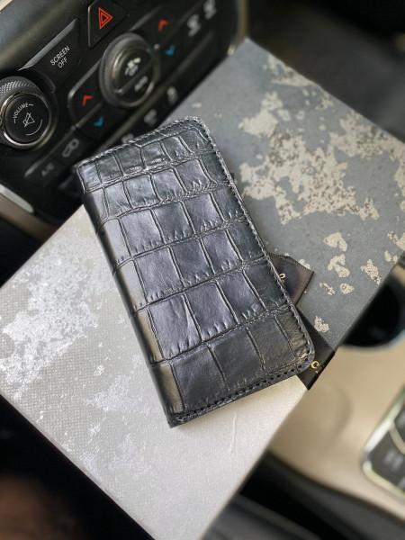 Кожаный, чёрный чехол-книжка Mobcase 1153