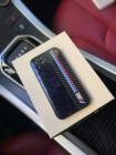 Кожаный чёрный карбоновый чехол с логотипом BMW M Performance Mobcase 1248