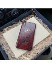 Кожаный, именной чехол с логотипом Mercedes Benz, Mobcase 998