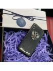 Кожаный, именной чехол с металлическим гербом России, Mobcase 724 для iPhone