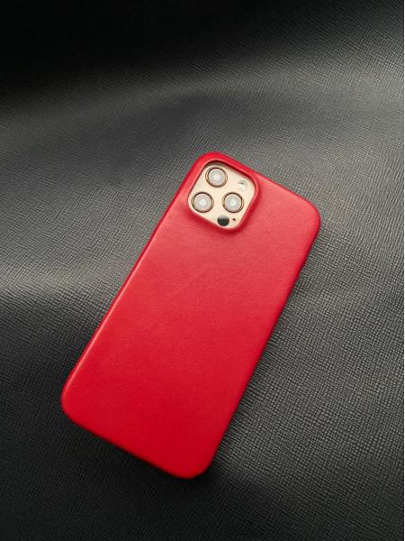 Кожаный красный чехол Mobcase 1383