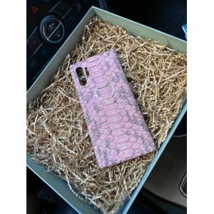 Кожаный, розовый чехол с сердцем Mobcase 1118