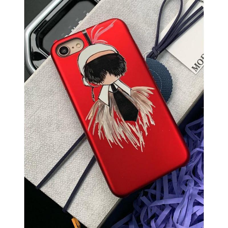 Красный, эксклюзивный чехол с принтом Fendi Mobcase 822 для iPhone