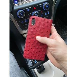 Красный, кожаный чехол книжка, Mobcase 1052