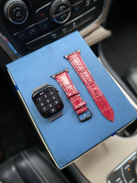 Красный кожаный ремешок Mobcase 1210 для Apple Watch