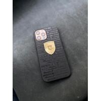 Эксклюзивный чёрный чехол с логотипом Porsche Mobcase 1407