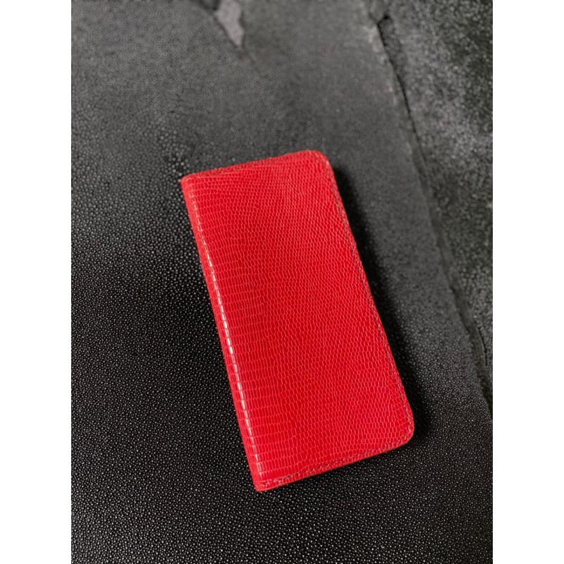Кожаный красный чехол книжка Mobcase 1414
