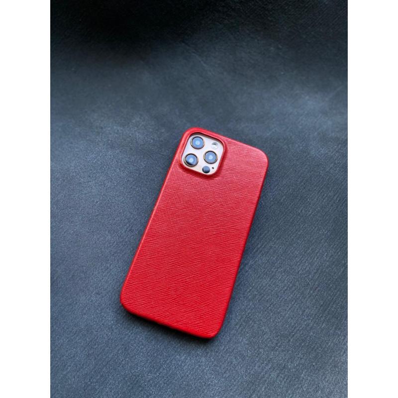 Красный кожаный чехол Mobcase 1416