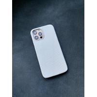 Белый кожаный чехол Mobcase 1417 для iPhone 12 Pro