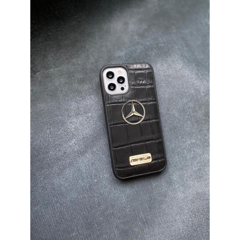Противоударный черный кожаный чехол с логотипом Mercedes GLS Mobcase 1423