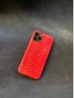 Красный кожаный чехол из игуана Mobcase 1435