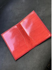 Кожаный красная обложка на паспорт с инициалами Mobcase 1448