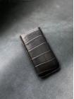 Чёрный кожаный чехол-карман ручной работы Mobcase 1456