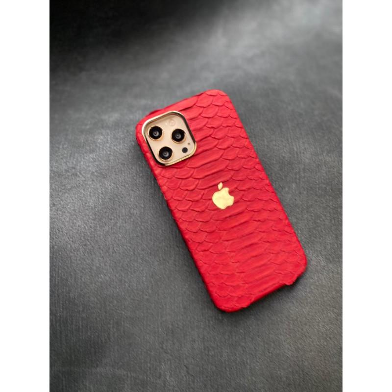 Эксклюзивный чехол ручной работы из красной кожи питона с логотипом Apple Mobcase 1462