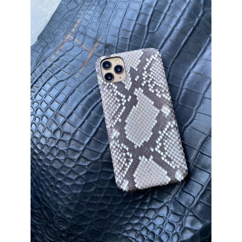 Белый кожаный чехол ручной работы из питона Mobcase 1485 для iPhone 11 Pro