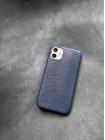 Кожаный синий чехол ручной работы из игуана Mobcase 1490 для iPhone 11