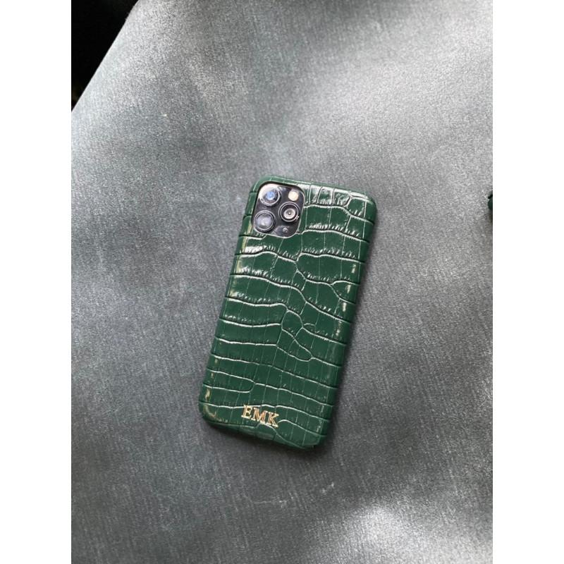 Зелёный кожаный чехол с выделкой под крокодила Mobcase 1499 для iPhone 11 Pro