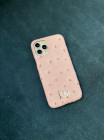 Нежно розовый кожаный чехол ручной работы с инициалами Mobcase 1500 для iPhone 11 Pro