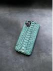 Зелёный кожаный чехол из питона с инициалами Mobcase 1504 для iPhone 11 Pro