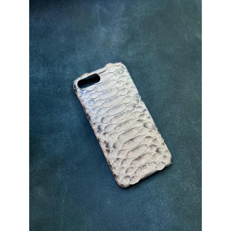 Белый кожаный чехол из питона Mobcase 1505 для iPhone 8 Plus