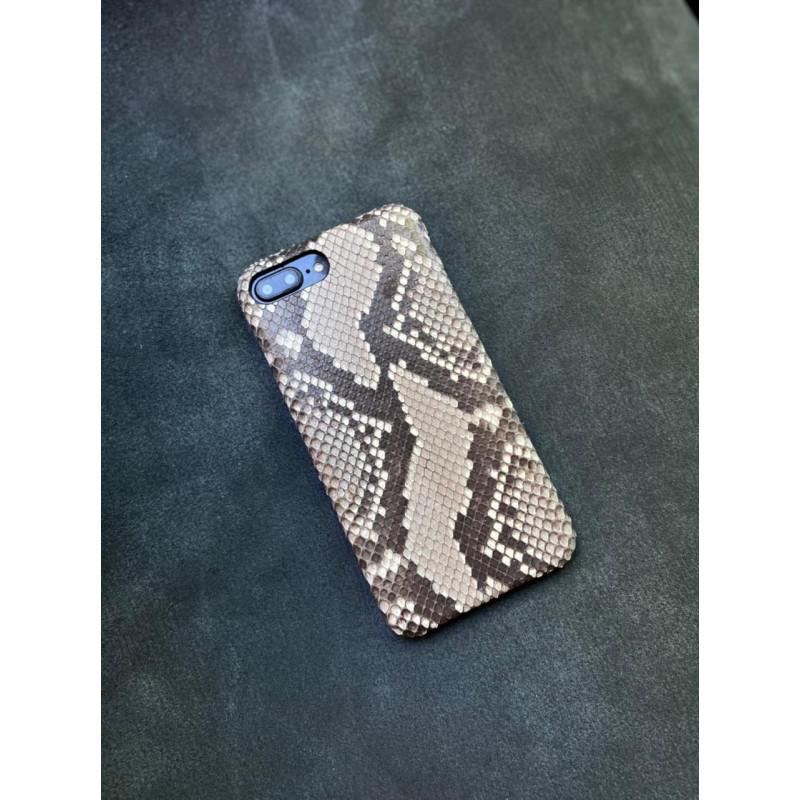 Белый кожаный чехол из необычного питона Mobcase 1506 для iPhone 8 Plus
