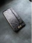 Чёрный кожаный чехол с ремешком для носки Mobcase 1508 для iPhone 8 Plus