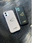 Белый кожаный чехол ручной работы с логотипом, инициалами Mobcase 1513 для iPhone 11