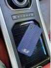Синий кожаный чехол из питона с инициалами Mobcase 1515 для iPhone X