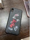 Чёрный чехол с логотипом LV Багз Банни Mobcase 1518 для iPhone X
