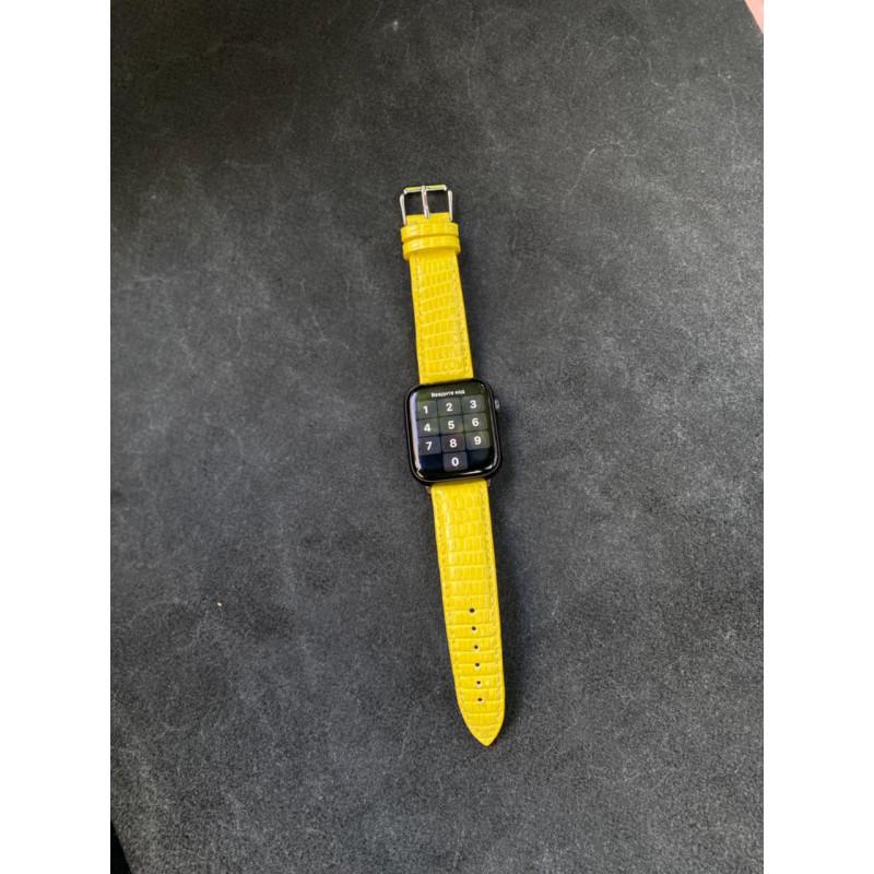 Жёлтый кожаный ремешок Mobcase 1520 для Apple Watch