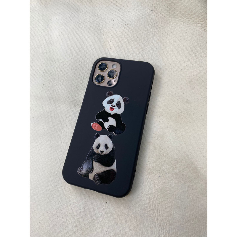 Чёрный чехол с изображением Панды Mobcase 1524 для iPhone 12 Pro