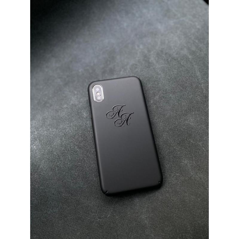 Чёрный чехол с инициалами Mobcase 1525 для iPhone X