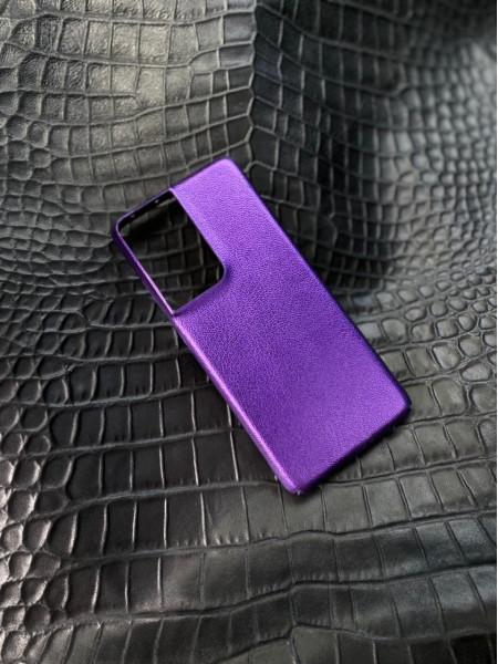 Сиреневый кожаный чехол Mobcase 1537 для Samsung Galaxy S21 Ultra