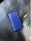 Синий кожаный чехол книжка Mobcase 1542 для iPhone 12 Pro