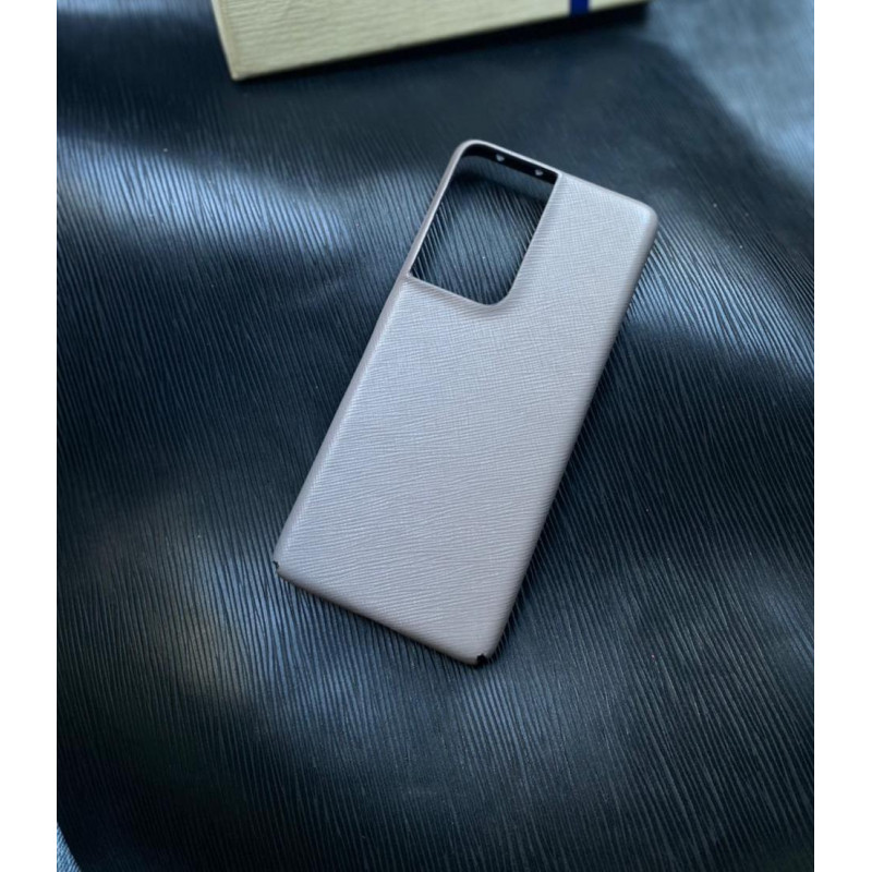 Белый кожаный чехол Mobcase 1544 для Samsung S21 Ultra