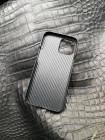 Чёрный кожаный чехол с логотипом черепа Mobcase 1554 для iPhone 12 Pro Max
