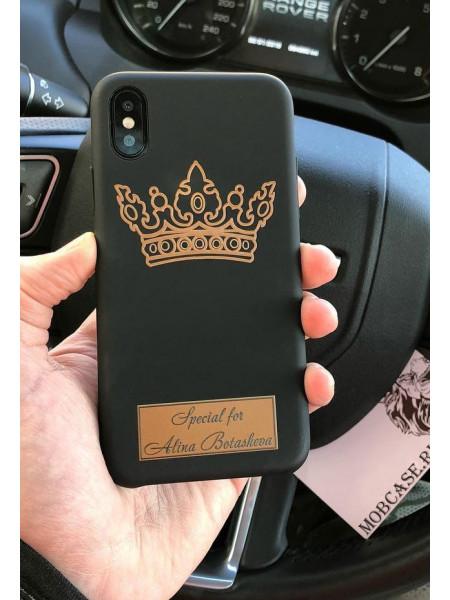 Персональный, именной чехол с короной Mobcase 599, для iPhone